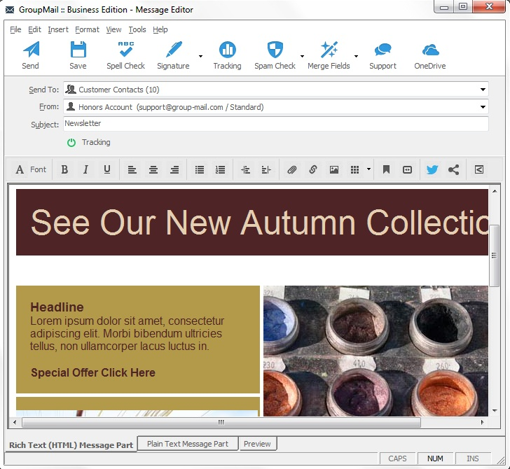 How To Create HTML Email With Microsoft Word - How to make a newsletter template