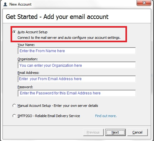 How to add a SMTP Server 2