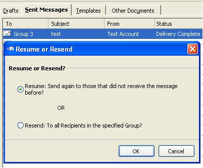 resending email