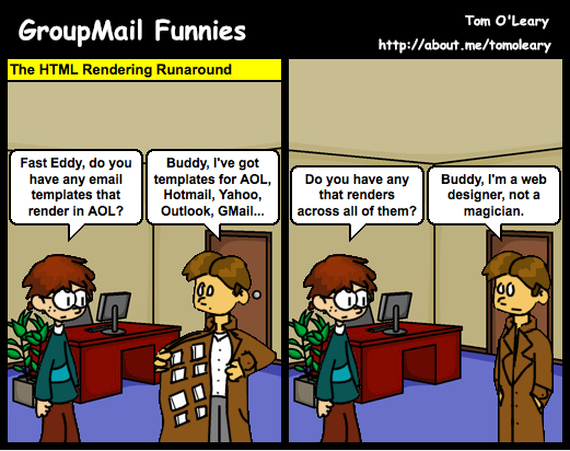HTML templates comic strip