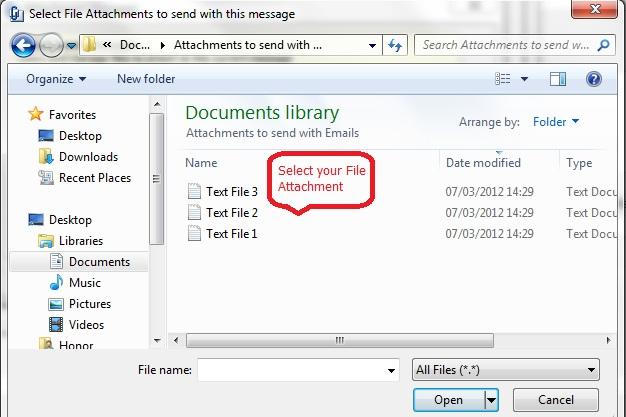 Adding a File Attachment