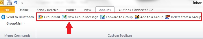 GroupMail Outlook Toolbar
