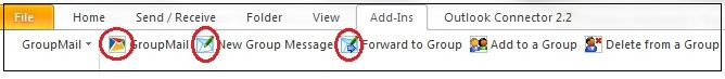Using the Outlook Toolbar