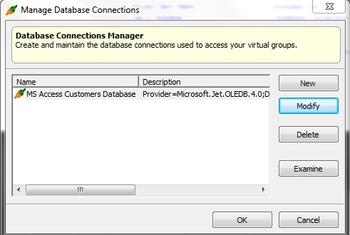 Database Connection in GroupMail