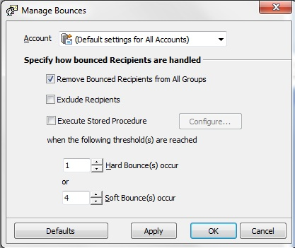 Remove Bounces using GroupMail