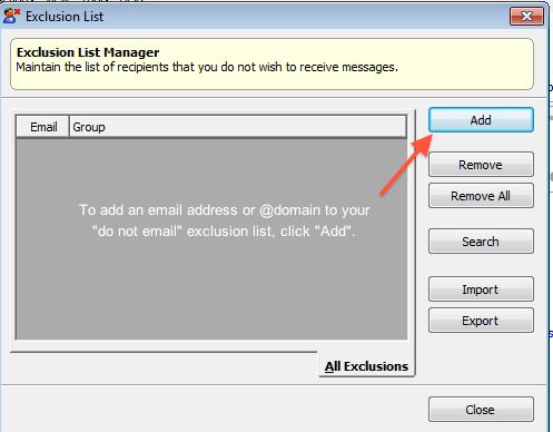 Exclusion list management 2