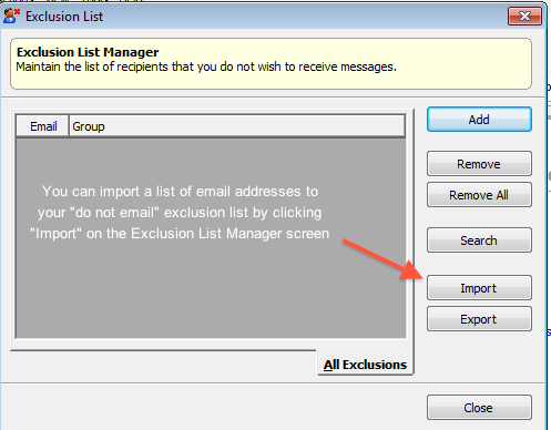 Exclusion list management 4