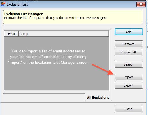 Exclusion list management 4