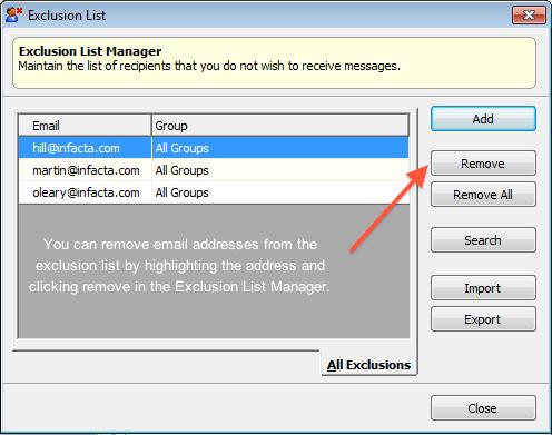 exclusion list management 5