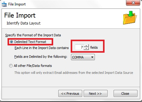Importing a CSV File into GroupMail