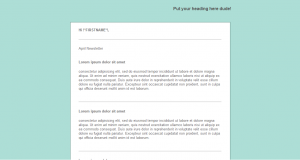 Email Newsletter Template Green