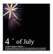 4th of July HTML email templates in GroupMail