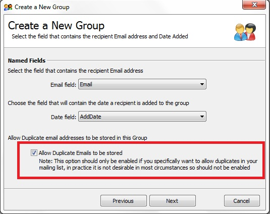 Allow Duplicate Emails to be stored