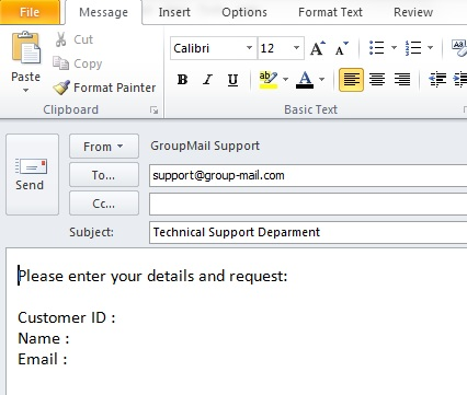 how to create group mail in yahoo