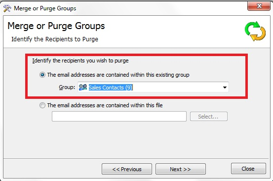How to Purge Email Groups