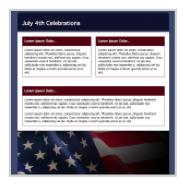 Independence Day HTML email templates in GroupMail