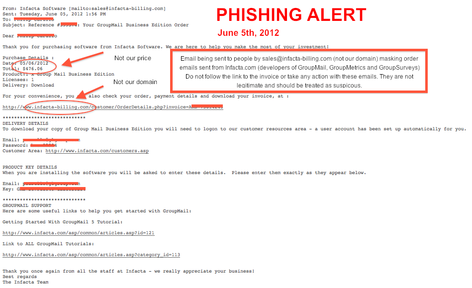 Phishing Alert from infacta-billing.com June 5 2012