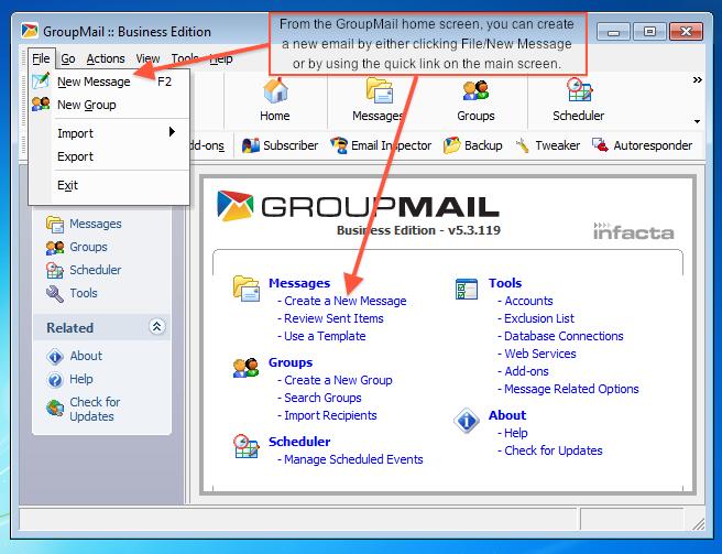 creat a mail