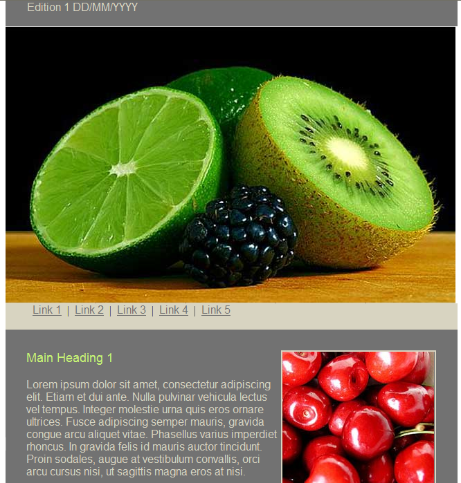 GroupMail Food Newsletter Email Template