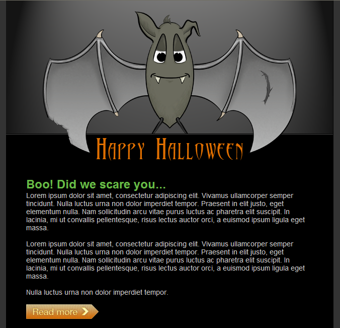 GroupMail Halloween Email Template 1