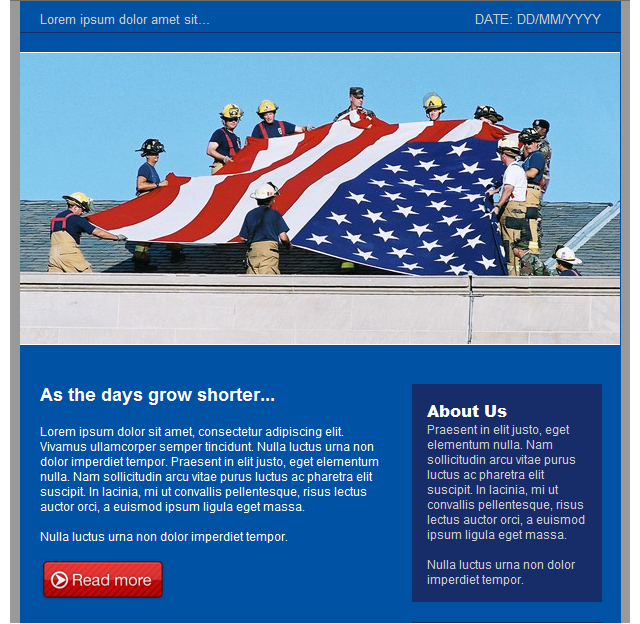 GroupMail Labor Day Email Template 2