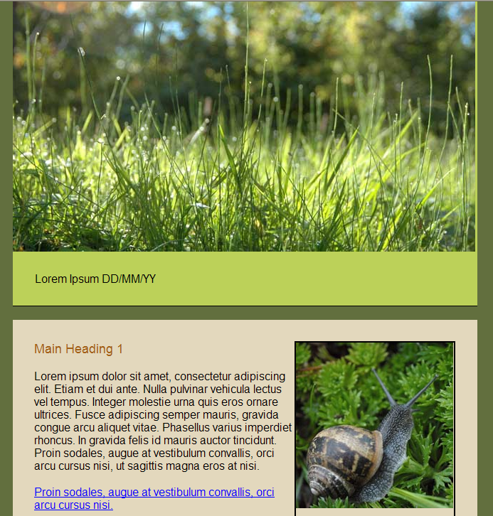 GroupMail Nature Newsletter Email Template