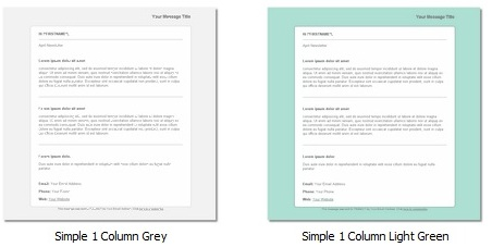 GroupMail Templates