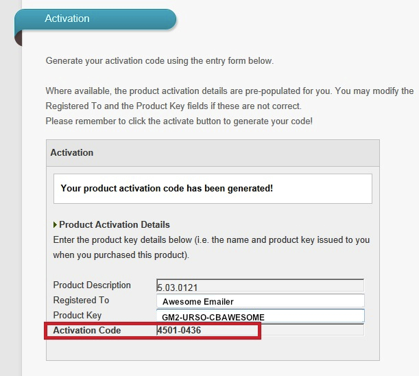 How to manually activate a GroupMail license 6