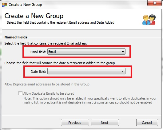 how to add email address to a field in excel