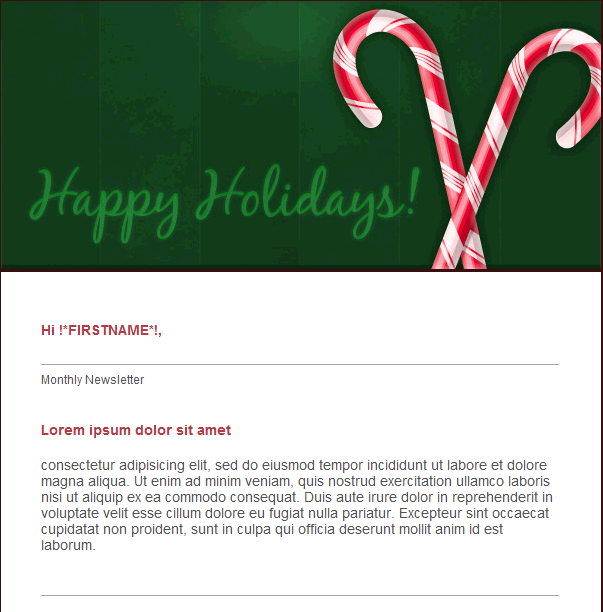 Christmas Email Template Happy Holidays