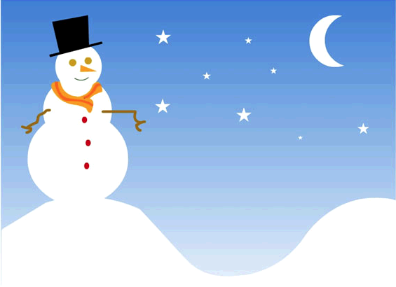 Christmas Email Template Snowman