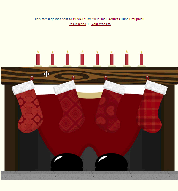 Christmas Email Template with Santa