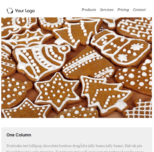 Christmas Gingerbread Email Template