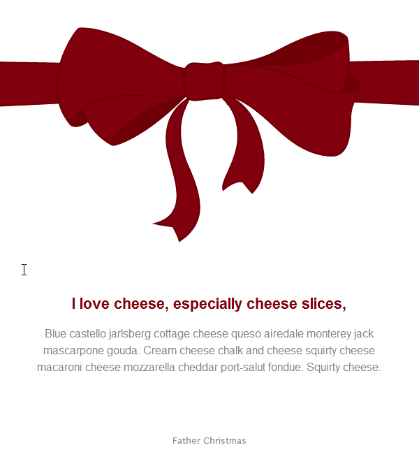 Christmas Email Template Ribbon