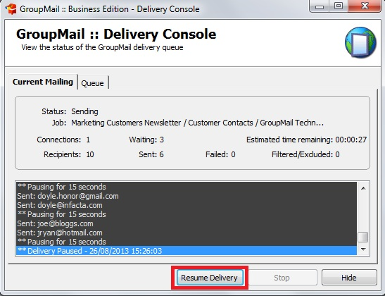 Bulk Email Delivery