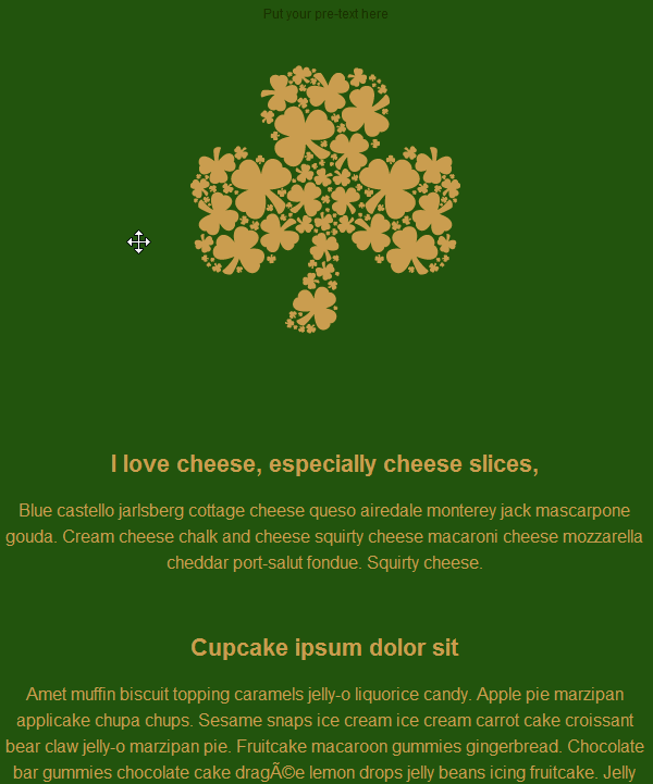 St. Patrick's Day Email Template 3
