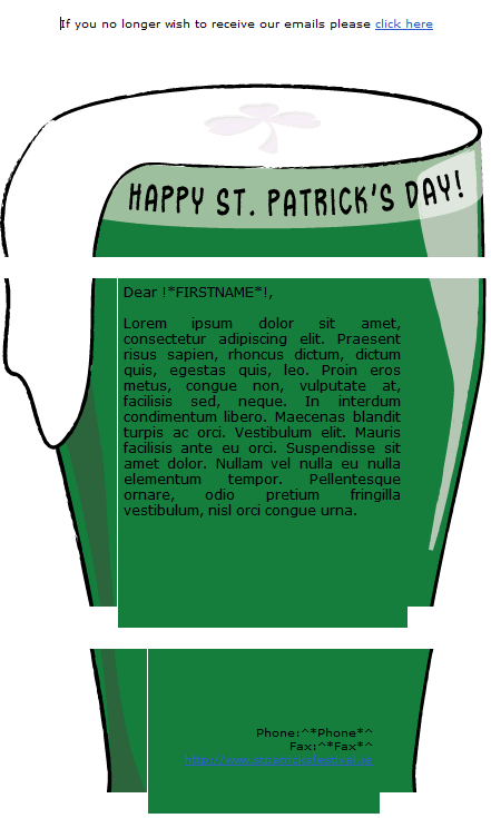 St. Patrick's Day Email Template 4