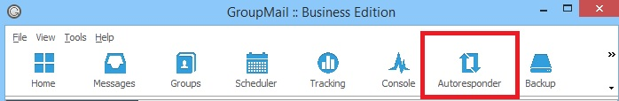 GroupMail Auto Responder Menu