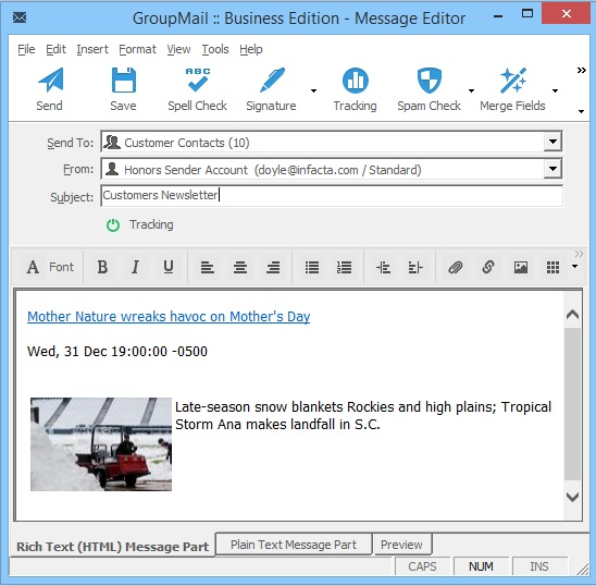 GroupMail RSS Feed4