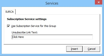 GroupMail Opt-Out Link