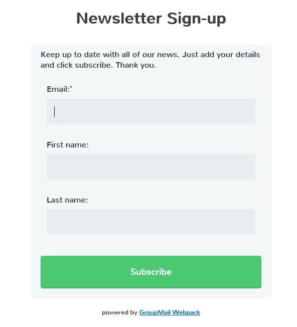 Surca Subscribe form3.