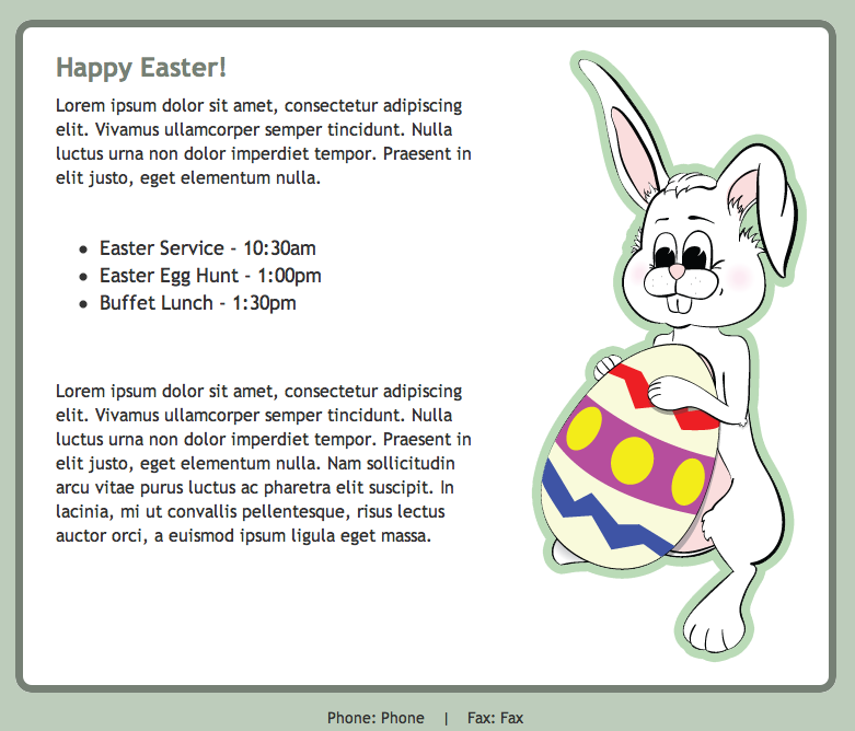 Easter themed HTML Email Template in GroupMail