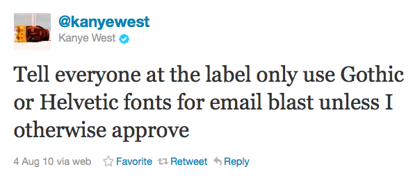 best email and web fonts - Kanye West