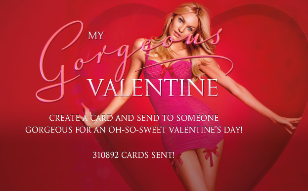 Send a valentines love note from Victoria's Secret