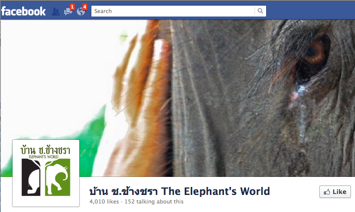 Elephant's World Facebook Page
