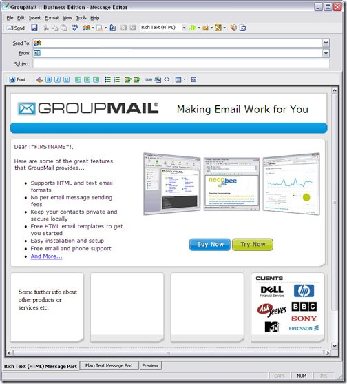 Tips to create html email that works with all email clients for Create html email template online